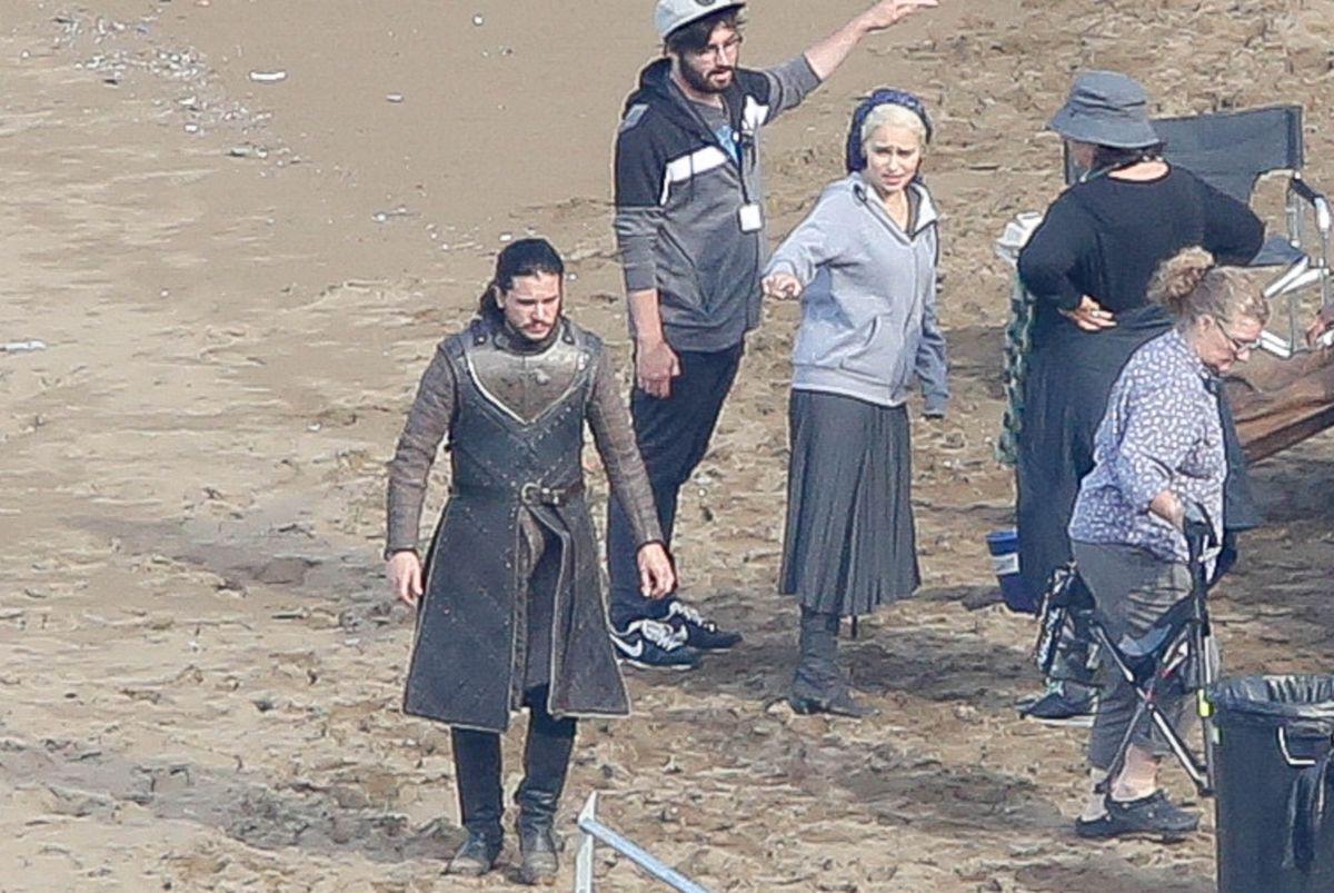 EMILIA CLARKE on the Set of Game of Thrones in Zumaia 10/25/2016