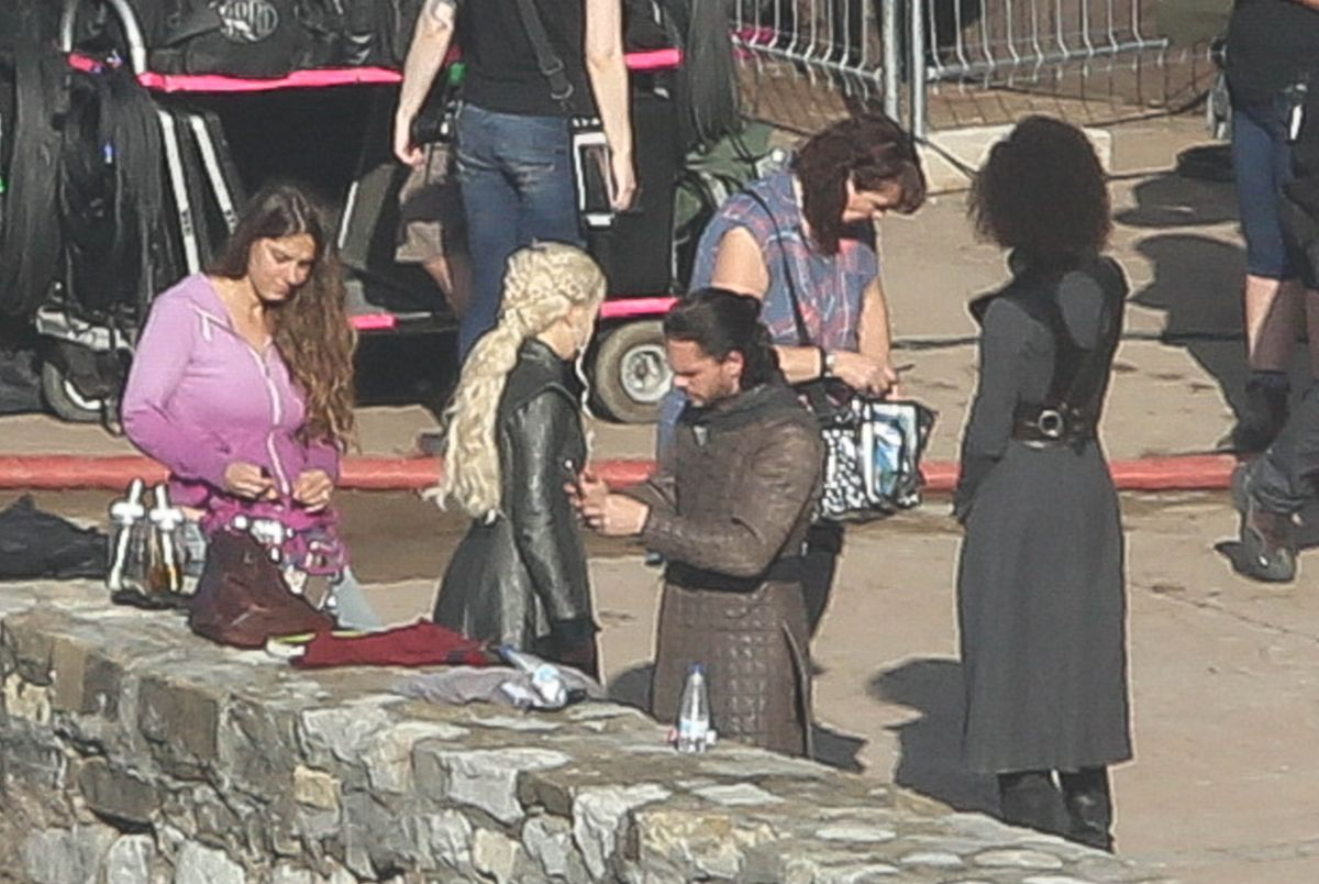 Emilia Clarke On The Set Of Game Of Thrones In Zumaia 10 25 2016 5