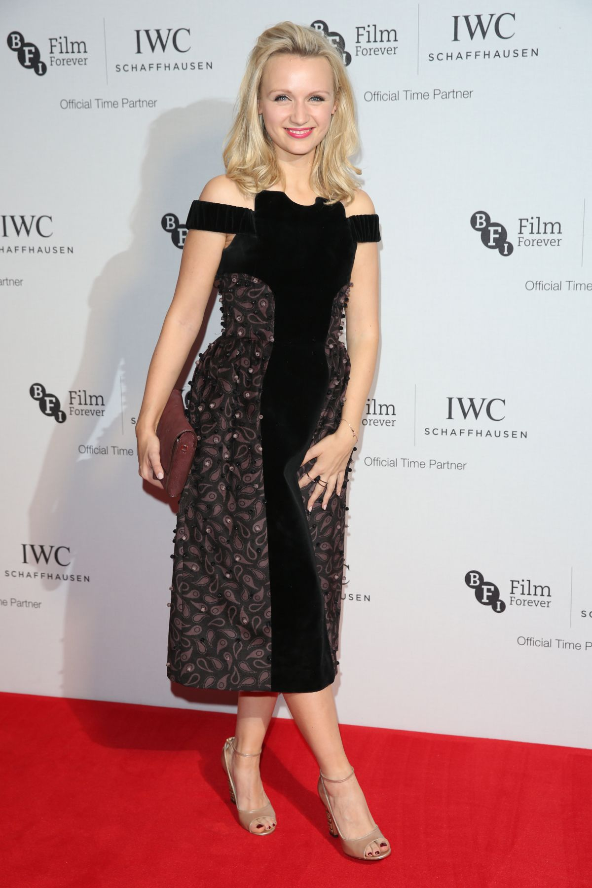 EMILY BERRINGTON at IWC Schaffhausen Dinner in Honour of BFI Rosewood in London 10/04/2016