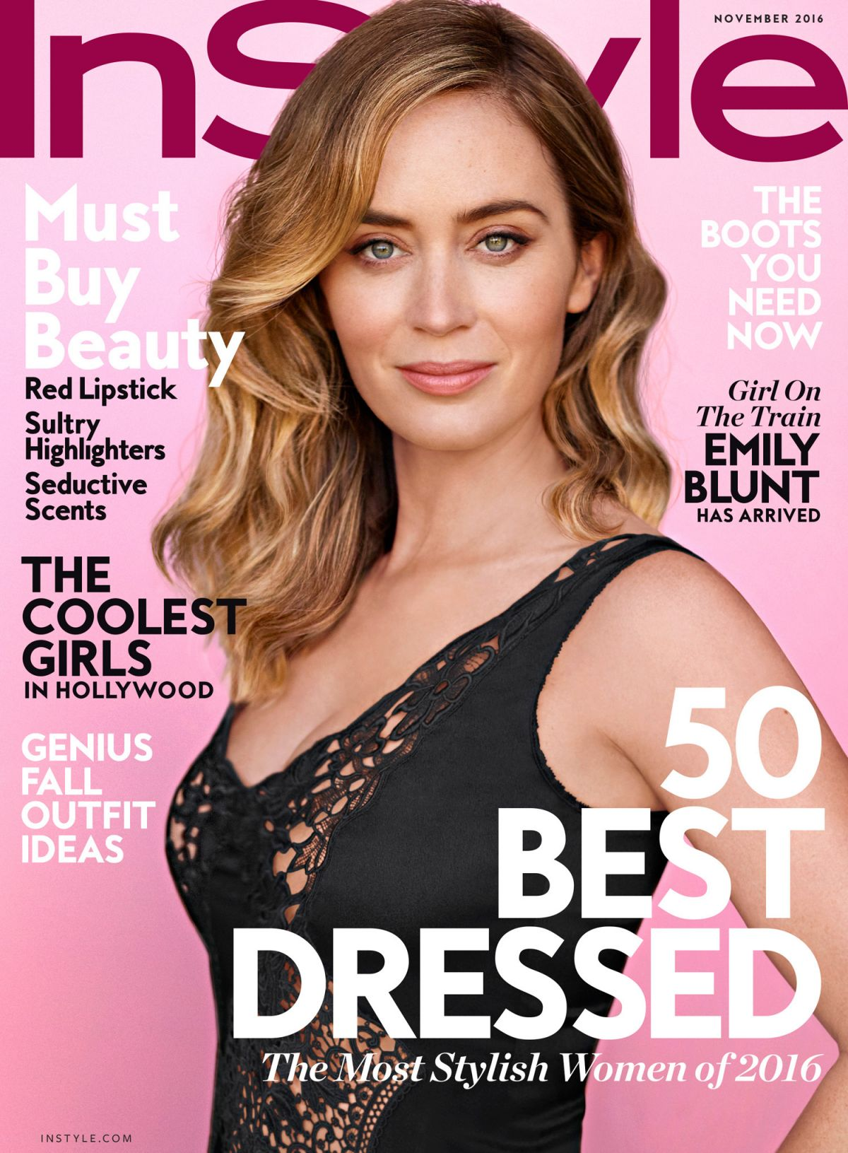 EMILY BLUNT in Instyle Magazine, November 2016 Issue