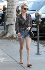 EMMA ROBERTS in Cut Off Out in Beverly Hills 10/22/2016