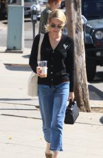 EMMA ROBERTS Out for Coffee in Beverly Hills 10/20/2016