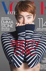 EMMA STONE in Vogue Magazine, November 2016 Issue