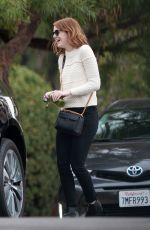 EMMA STONE Out in Los Angeles 10/27/2016