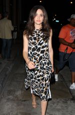 EMMY ROSSUM Out for Dinner in Los Angeles 09/30/2016