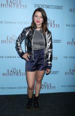 FATIMA PTACEK at 'The Eagle Huntress' Screening in New York 10/20/2016