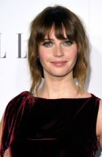 FELICITY JONES at 23rd Annual Elle Women in Hollywood Awards in Los Angeles 10/24/2016