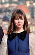 FELICITY JONES at 'Inferno' Press Conference in Florence 10/07/2016