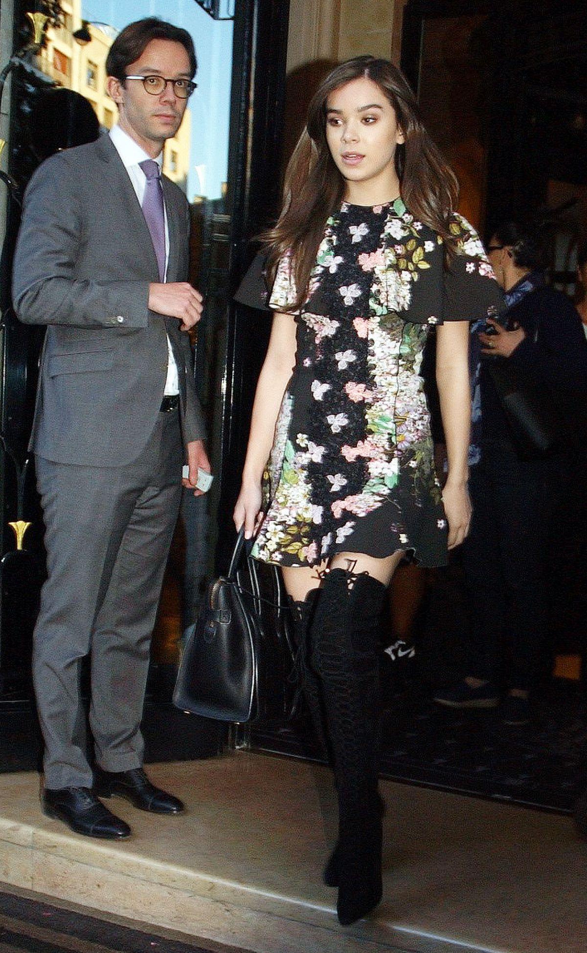 HAILEE STEINFELD Leaves George V Hotel in Paris 10/03/2016