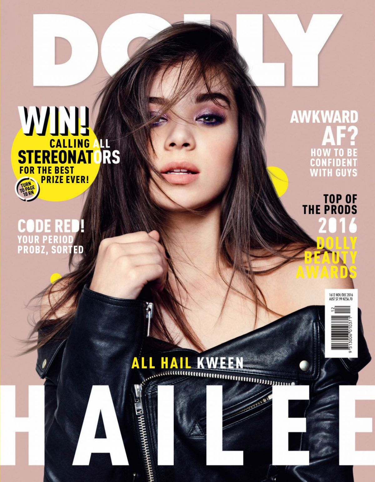 HAILEE STEINFERD on the Cover od Dolly Magazine, Australia Nov/Dec 2016 Issue