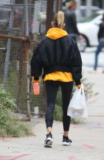 HAILEY BALDWIN Out in New York 10/08/2016
