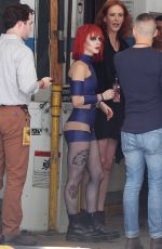 HAYLEY WILLIAMS on the Set of