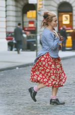 HELENA BONHAM CARTER Out and About in New York 10/14/2016