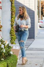 HILARY DUFF in Ripped Jeans Out in Los Angeles 10/18/2016