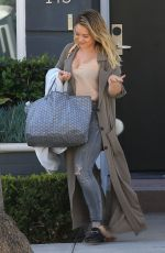 HILARY DUFF Out and About in Beverly Hills 10/05/2016