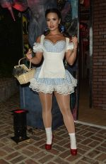 DEMI LOVATO as Dorothy at a Halloween Party 10/29/2016
