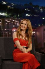 ISLA FISHER at Jimmy Kimmel Live 10/20/2016