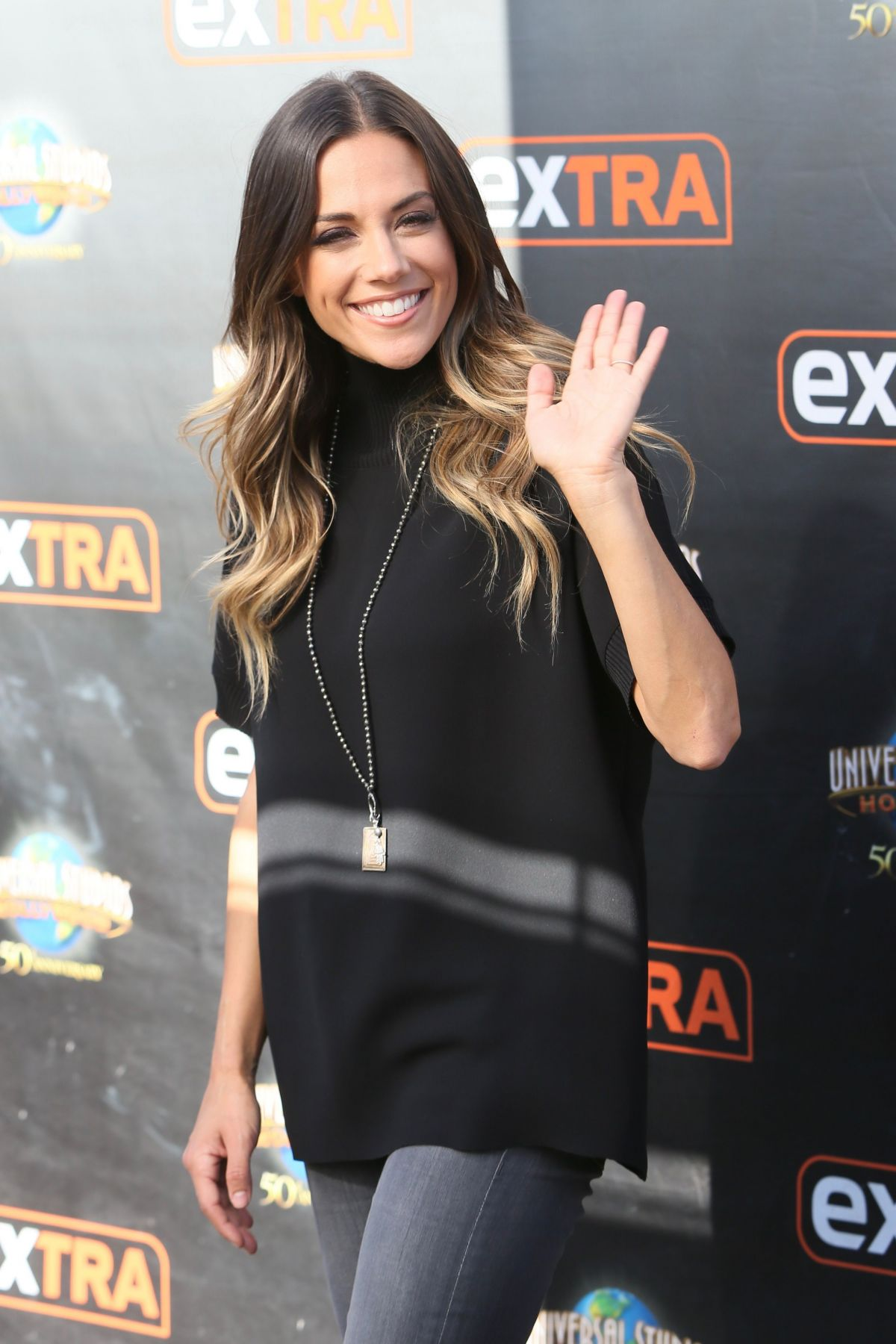 JANA KRAMER on the Set of Extra in Los Angeles 10/21/2016