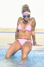 JEMMA LUCY in Bikini at a Pool in Ibiza 09/27/2016