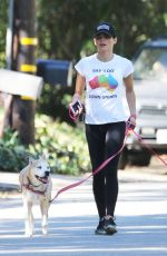 JENNA DEWAN Out for a Hike at Tree People Park in Los Angeles 10/20/2016