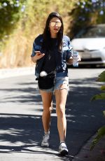 JESSICA GOMES Arrives on the Set of Her New Movie in Los Angeles 10/03/2016