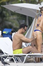 JOANNA KRUPA in Bikini on the Beach in Miami 10/13/2016