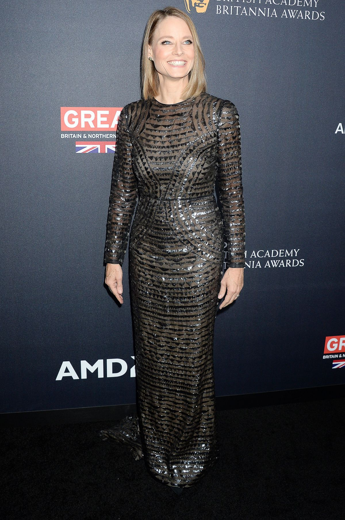 JODIE FOSTER at 2016 AMD British Academy Britannia Awards in Beverly Hills 10/28/2016