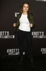 JOEY KING at Knott's Scary Farm Opening Night in Buena Patk 09/30/2016