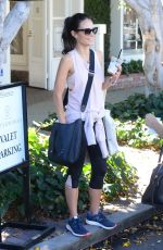 JORDANA BREWSTER at Organic Juicery in Beverly Hills 10/20/2016