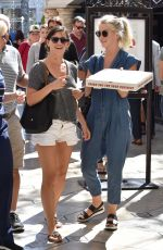 JULIANNE HOUGH Getting Pizza at The Grove in Los Angeles 10/09/2016