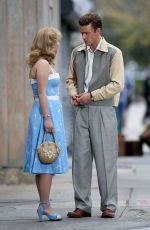 JUNO TEMPLE on the Set of New Woody Allen Movie in New York 10/20/2016