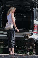 KATE UPTON Walks Her Dog Harley Out in Beverly Hills 10/12/2016
