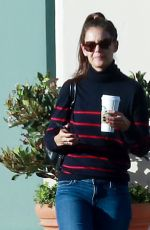 KATIE HOLMES Leaves a Starbucks in Calabasas 10/19/2016