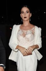 KATY PERRY at cfda/vogue Fashion Party at Chateau Marmont in Los Angeles 10/26/2016