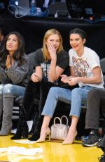 KENDALL JENNER and KARLIE KLOSS at Houston Rockets vs Los Angeles Lakers Game in Los Angeles 10/26/2016