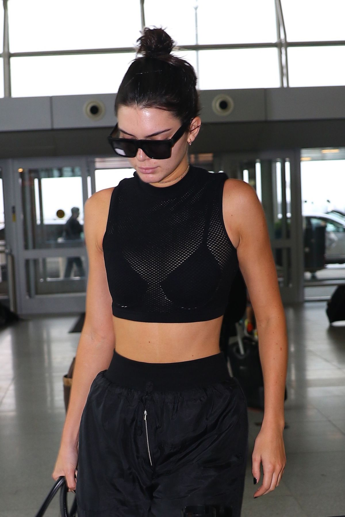 KENDALL JENNER at JFK Airport in New York 09/30/2016