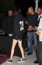 KENDALL JENNER at The Yeezy Tour Concert in Los Angeles 10/25/2016