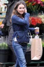 KERI RUSSELL Out Shopping in New York 10/27/2016