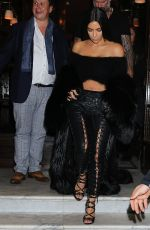 KIM KARDASHIAN Night Out in Paris 09/30/2016