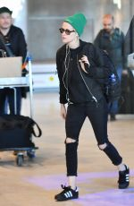 KRISTEN STEWART at Airport in Paris 10/12/2016