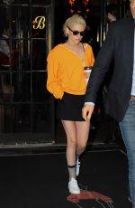 KRISTEN STEWART Leaves Her Hotel in New York 10/04/2016