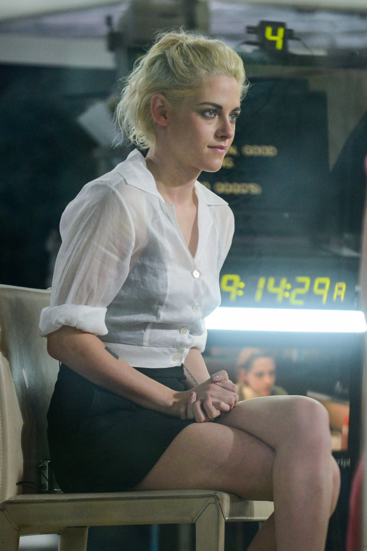 KRISTEN STEWART on the Set of