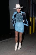 LADY GAGA Leaves a Recording Studio in New York 10/18/2016