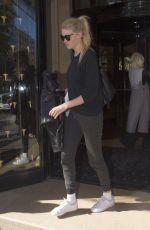 LARA STONE Leaves Her Hotel in Paris 10/03/2016