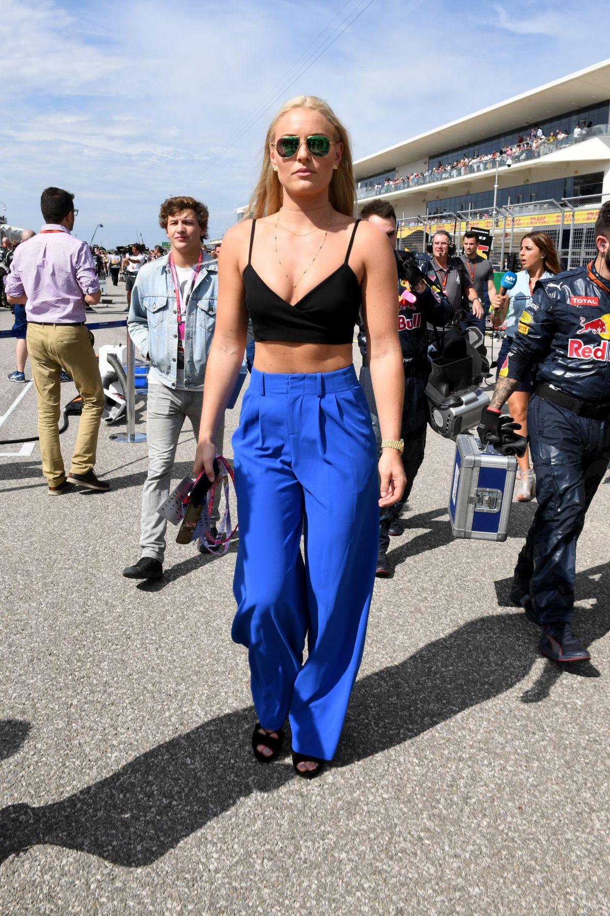 LINDSEY VONN at Formula 1 US Grand Prix in Austin 10/23/2016 – HawtCelebs