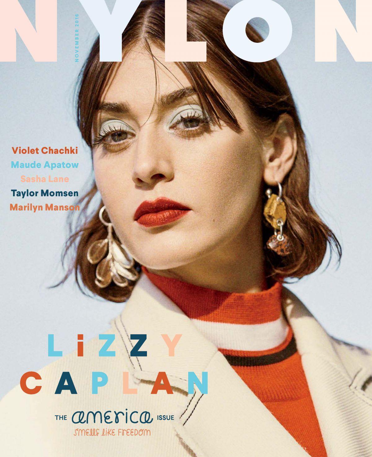 LIZZY CAPLAN in Nylon Magazine, November 2016 Issue