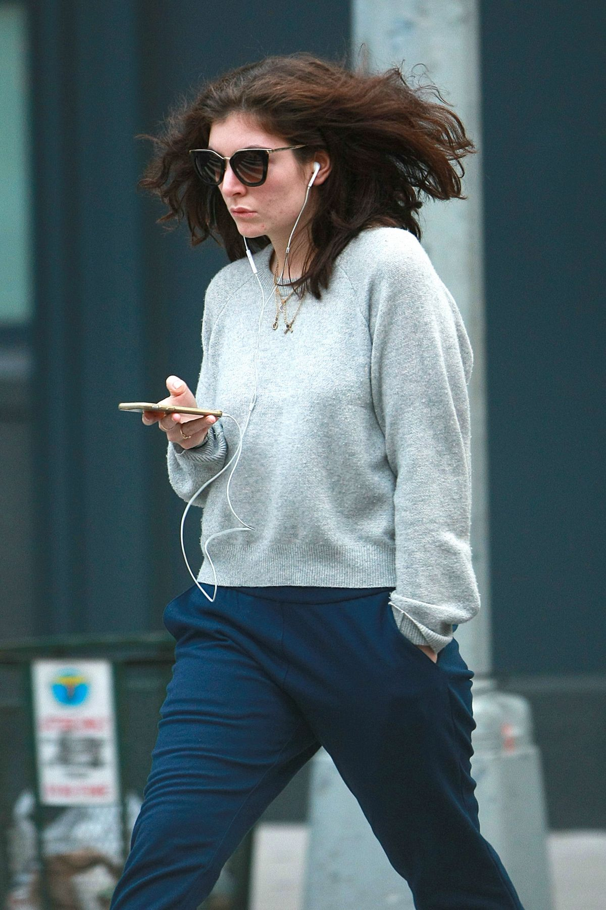 LORDE Out and About in New York 10/13/2016