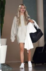 LOUISA JOHNSON Leaves Her Hotel in Los Angeles 10/14/2016