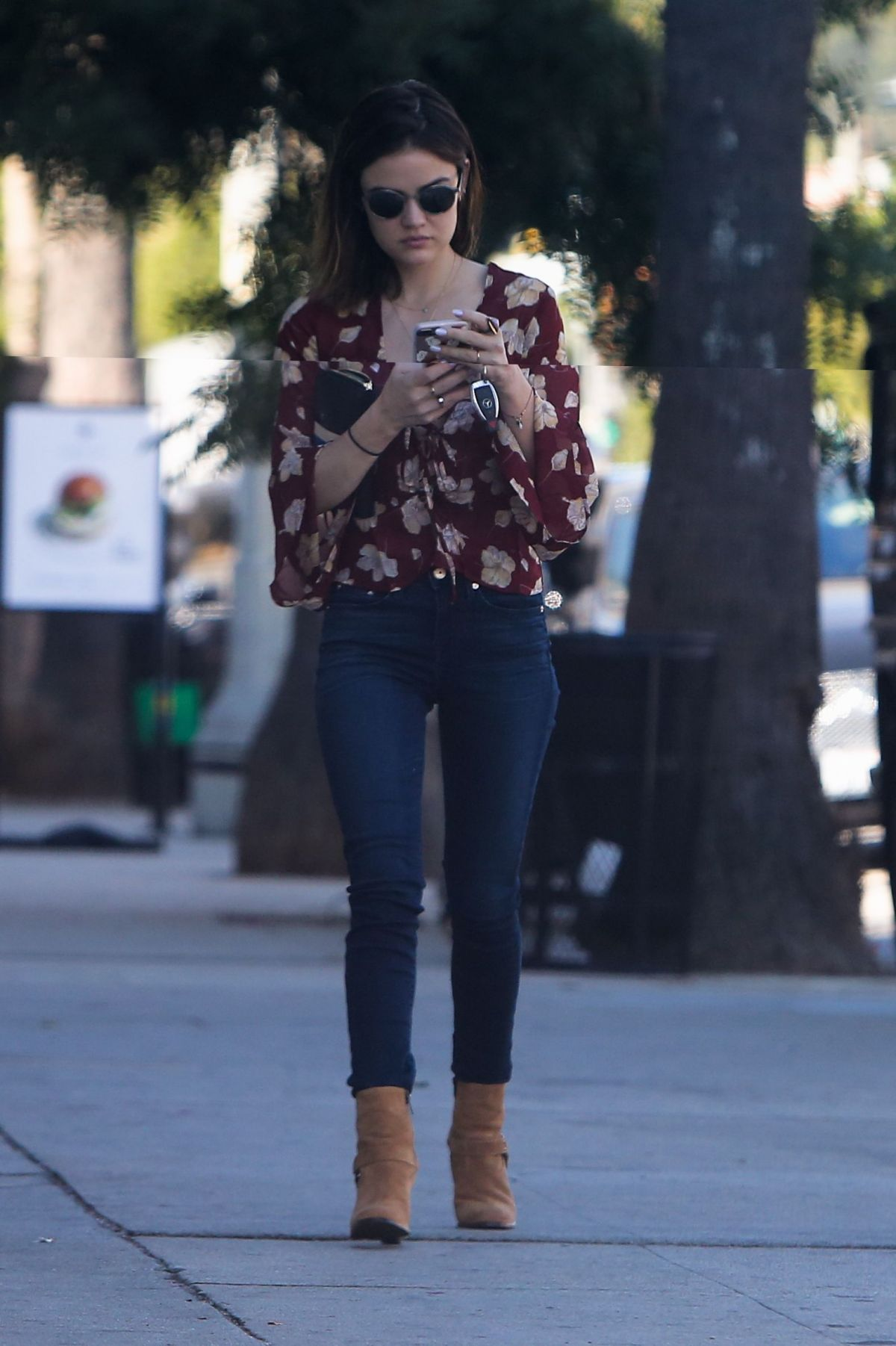 LUCY HALE in Tight Jeans Out in Studio City 10/10/2016 ...
