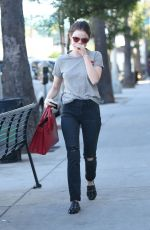 LUCY HALE Out for a Coffee in Los Angeles 10/22/2016